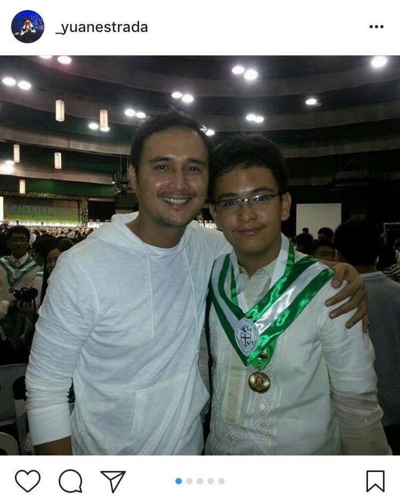 Photos of John Estrada with his son Yuan